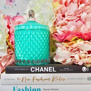 blush-teal-geo-candle